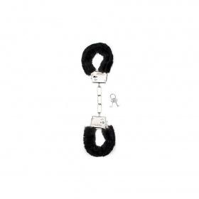 Manette furry handcuffs black