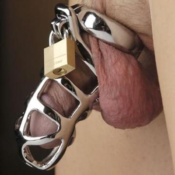 Gabbia di castità  maschile in acciaio inossidabile