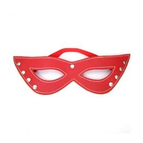 Maschera rossa in simil pelle