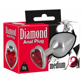 Anal plug in metallo con cristallo Diamond Plug